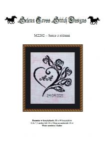 Wzór do haftu M2202 - serce z różami