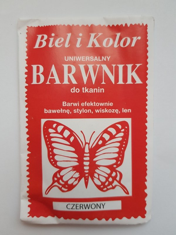 Barwnik - Biel i Kolor - czerwony