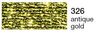Metalic perle 10 -antique gold  326