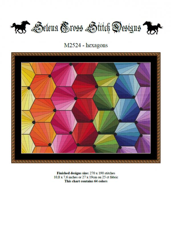 Wzór do haftu M2524 - hexagons