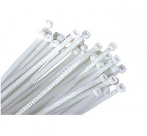 Opaski zaciskowe białe 4,8-250 (100szt)