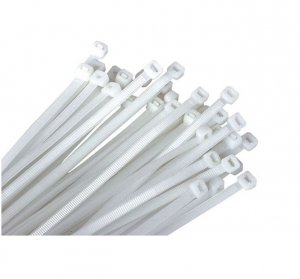Opaski zaciskowe białe 3,75-200 (100szt)