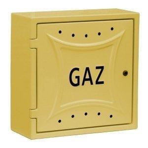 Szafka gazowa naścienna 300x340x200 żółta