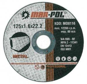 TARCZA DO CIĘCIA 125x1.6x22.2mm