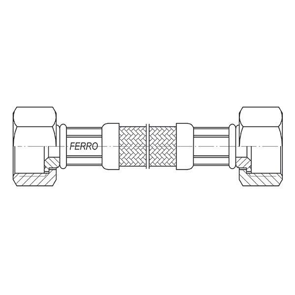 Ferro Wąż w oplocie 3/8 L 40cm nakrętno-nakrętny