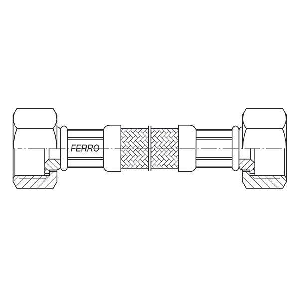 Ferro Wąż w oplocie 3/8 L 30cm nakrętno-nakrętny
