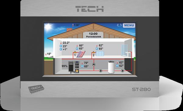 Sterownik regulator RS TECH ST-280 + ST-260 dotyk