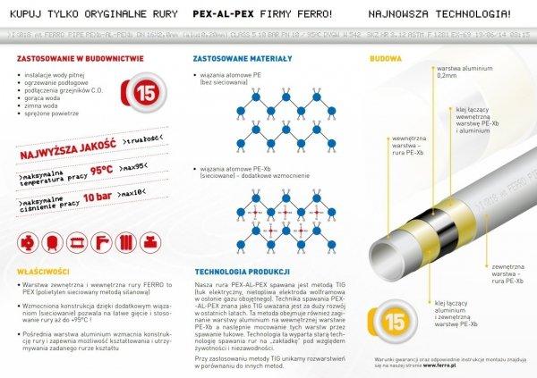 Rura PEX-AL-PEX Ferro 16x2 50m