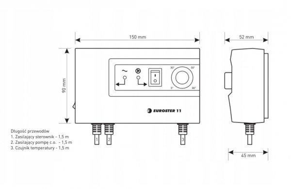 Sterownik pompy obiegowej CO Euroster E11