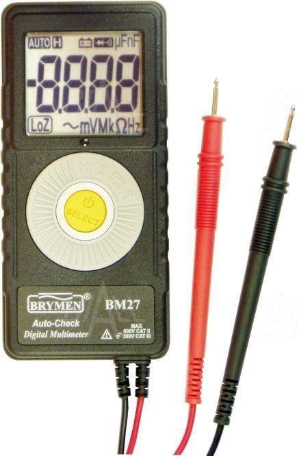 BM27s Multimetr kieszonkowy z pom. AC/DC Brymen