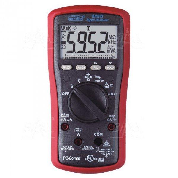 BM252s Multimetr  EF, T, RS232/USB  Brymen