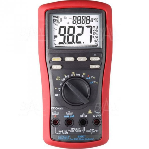 BM827s  Multimetr TRMS,Temp,dual LCD,USB Brymen