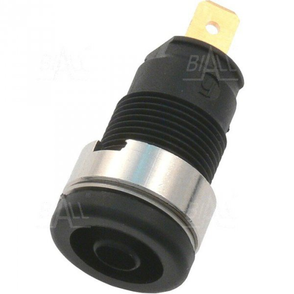 Gniazdo panelowe bezp. 4mm SEB2610-F4,8-BK 24A CAT II 1000V czarny