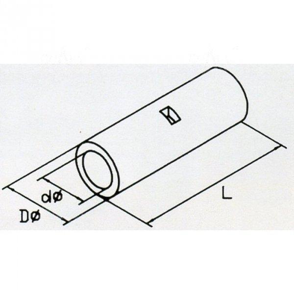 KLN1 Łącznik kablowy nieizolowany 1,7x15 100szt