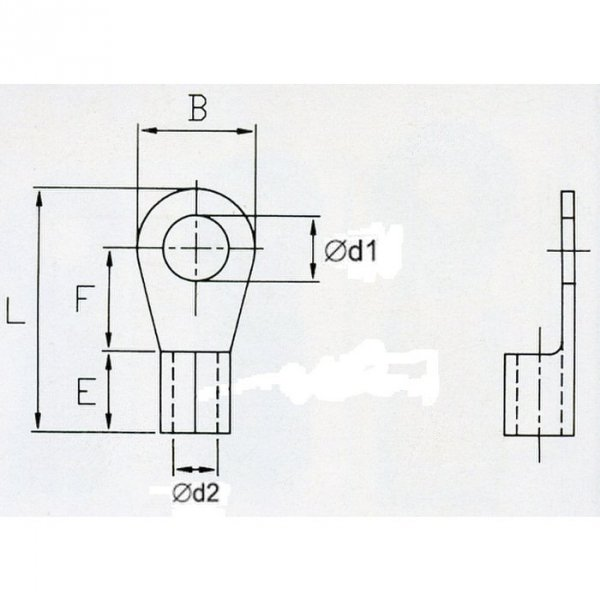 KON2-5 Końc. oczkowa nieizol. 1,5-2,5mm2/M5 100szt