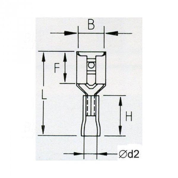 KFR63x08D Konektor żeński  izolowany 100szt