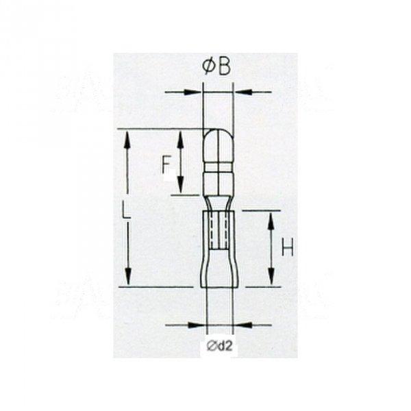 KMOB5 Konektor okrągły izol. męski 5mm 100szt