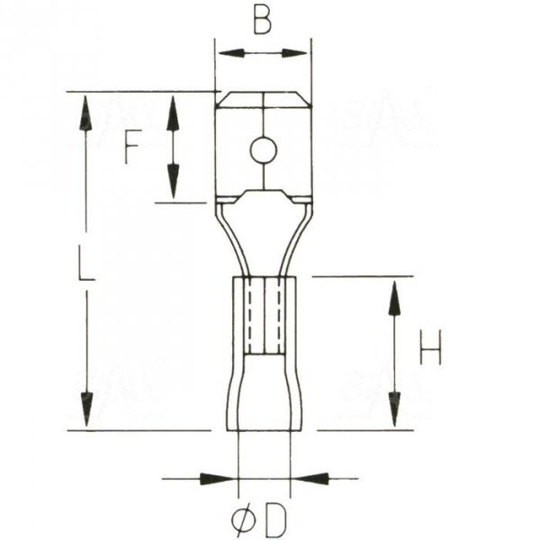 KMR28x08 Konektor męski izol.  100szt