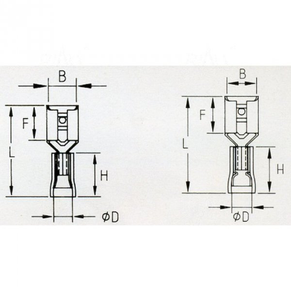 KFB63x08D Konektor żeński izol. 100szt