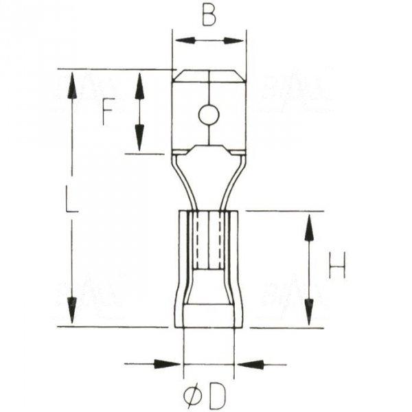 KMR63x08D Konektor męski izol. 100szt