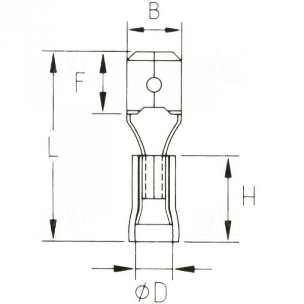 KMB63x08D Konektor męski izol. 100szt