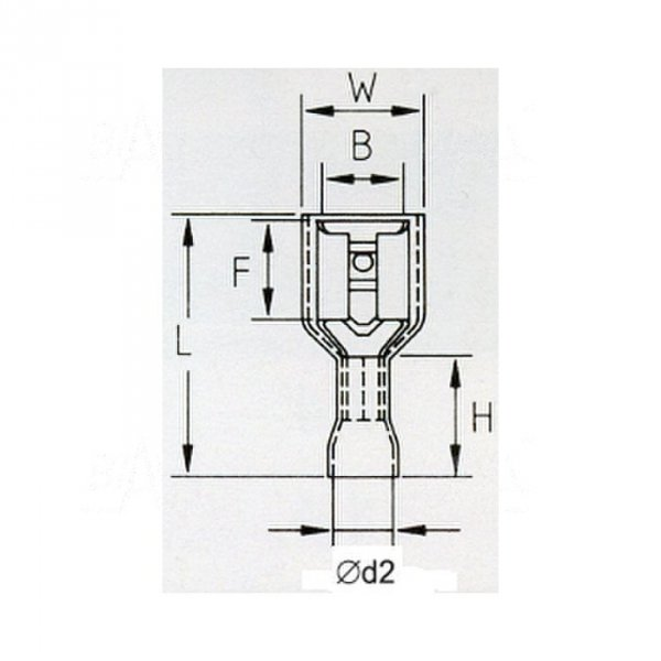 KFIR48x08 Konektor żeński izol. 100szt