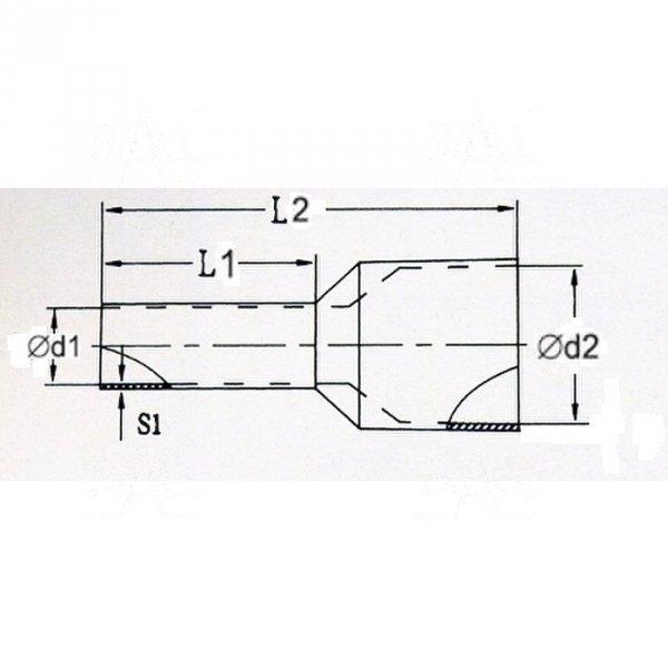 KR025012 BL Tulejka izolow. 2,5mm2x12    100szt