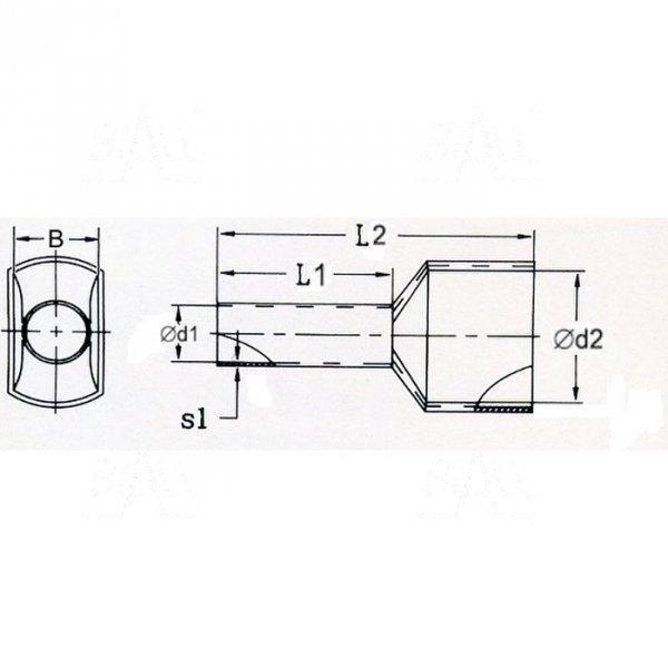 KR015012x2 BK Tulejka izolow. 2x 1,5mm2x12  100szt
