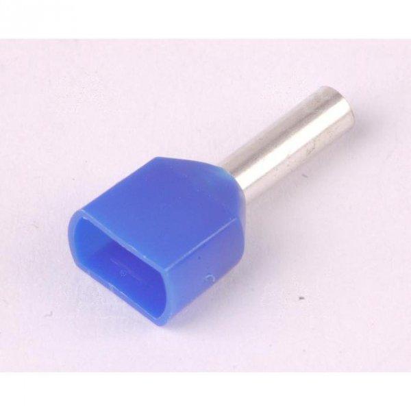 KR025010x2 BL Tulejka izolow. 2x 2,5mm2x10   100szt