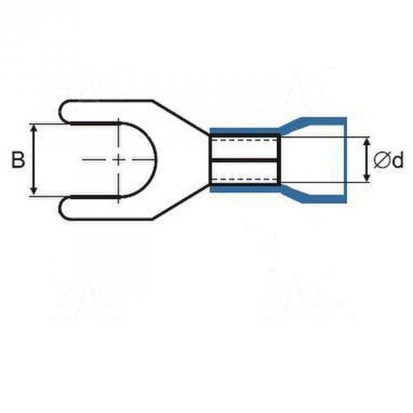 ZKW10-4.3BK Końcówka widełkowa złocona  M4