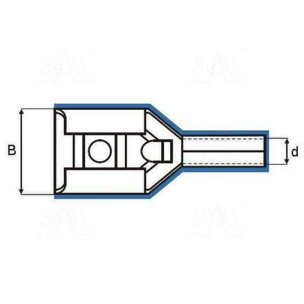 ZKF-2.5mm2-2.8 BK Konekt. żeński złocony, czarna osłonk