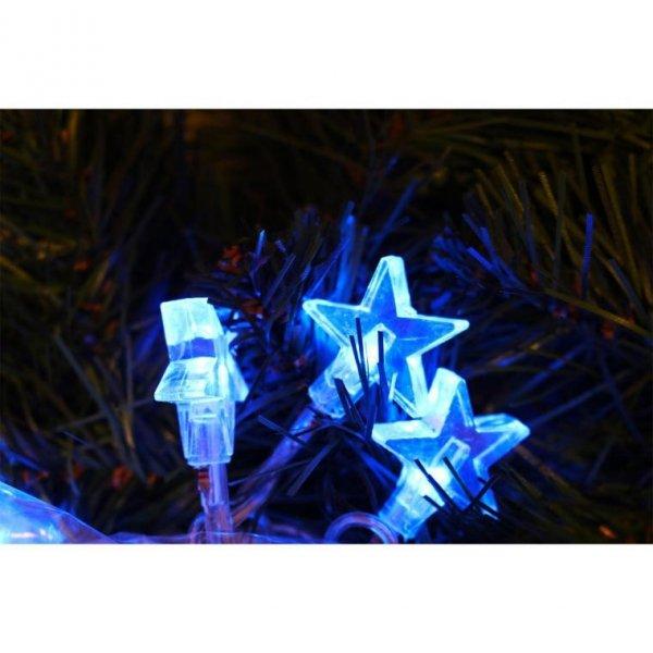 LAMPKI CHOINKOWE 20 LED GWIAZDKI NIEBIESKIE OŚWIETLENIE ŚWIATECZNE