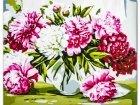 Obraz Malowanie po numerach Biało różowe chryzantemy S035