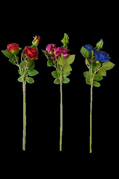 Róża z pąkiem 3 kwiaty MIX - 20TJ099