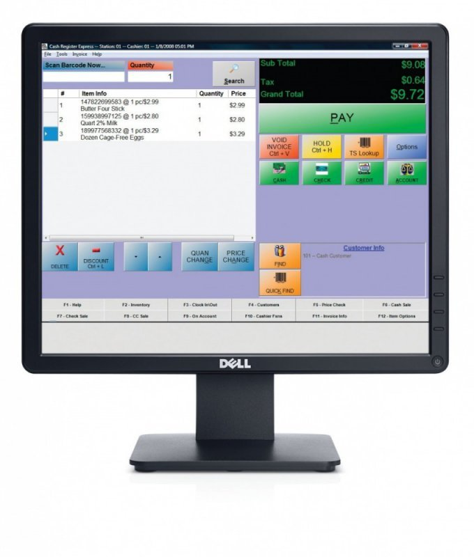Dell Monitor 17 E1715S LCD TN (1280x1024)/5:4/VGA/DP/3Y PPG