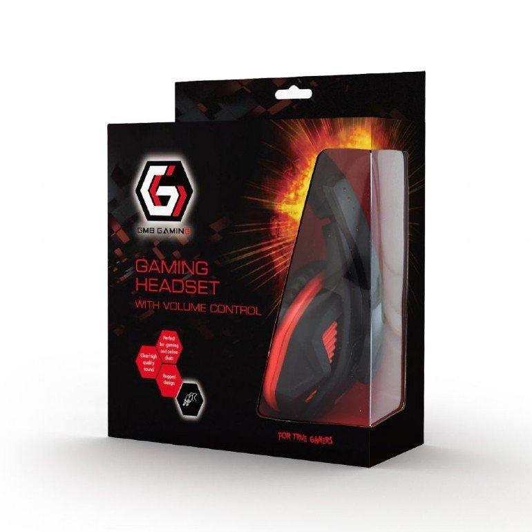 Gembird Słuchawki gamingowe z regulajcą głośności GHS-03