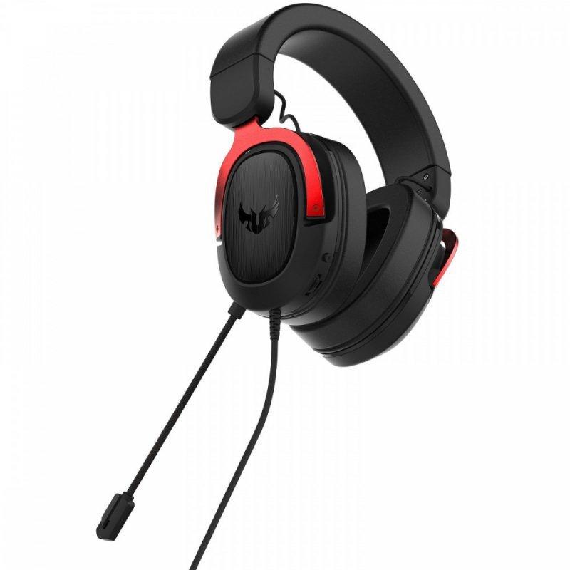 Asus Słuchawki TUF Gaiming H3, czerwony, z mikrofonem