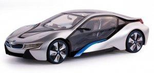 BMW i8 1:14 RTR (zasilanie na baterie AA) - srebrny