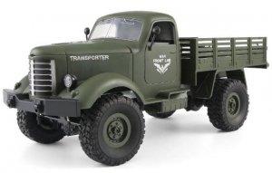 Wojskowy transporter 1:16, 4x4, 2.4GHz, RTR - Zielony