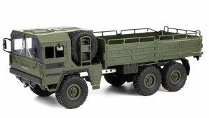 Ciężarówka wojskowa 1:16, 6x6, 2.4GHz, RTR - Zielona