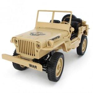 Jeep 1:10, 4x4, 2.4GHz, RTR - żółty