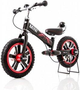Rowerek biegowy MINI z hamulcem - czarny