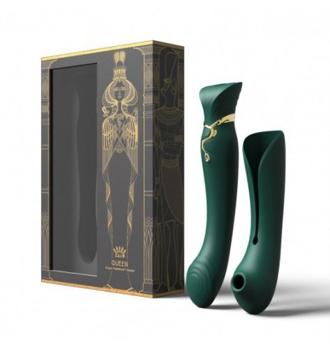 Zalo Legend Queen Set G-Spot Pulse Wave Vibrator Jewel Green