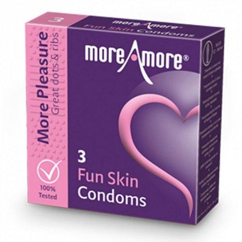 Prezerwatywy - MoreAmore Condom Fun Skin 3 szt