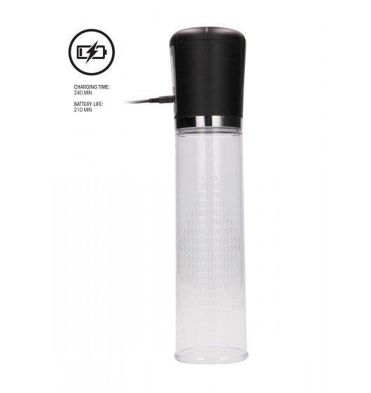Automatyczna pompka próżniowa Shots Pumped Premium Rechargeable Automatic LCD Pump Transparent