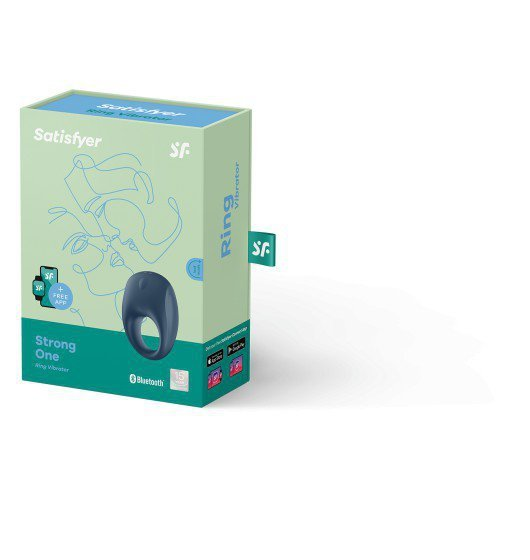 Elastyczny zdalny  pierścień z wibracjami na penisa-Satisfayer Strong One Ring incl. Bluetooth and App