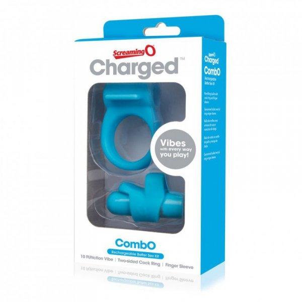Zestaw akcesoriów - The Screaming O Charged CombO Kit #1 Blue