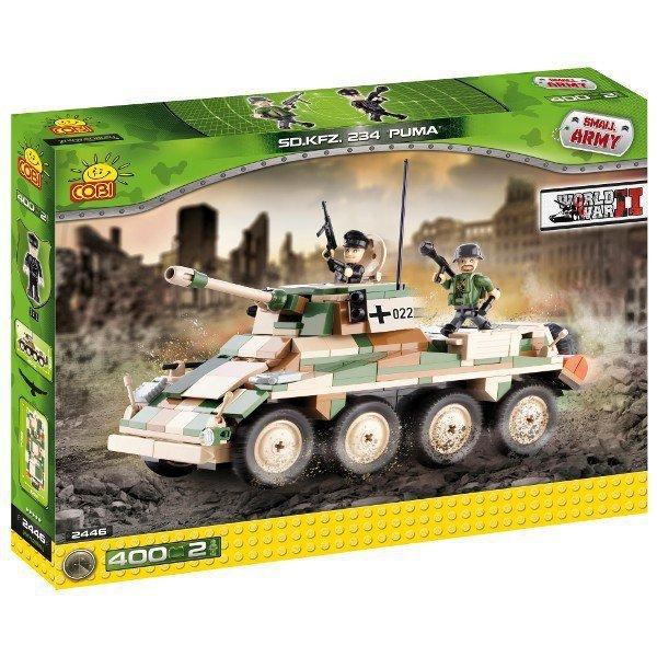 Klocki Armia Samochód pancerny Puma Sd.Kfz.234/2 400 elementów