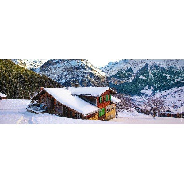 RAVEN. 500 EL. Drewniany dom w Alpach