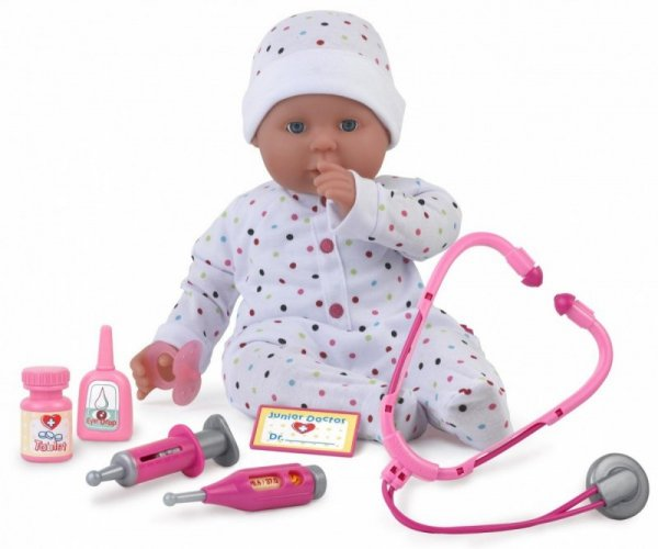 Lalka bobas 46 cm Dolly Doctor